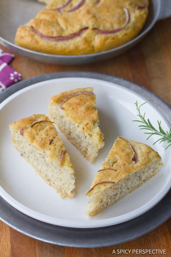 The Best Rustic Focaccia Bread Recipe | ASpicyPerspective.com