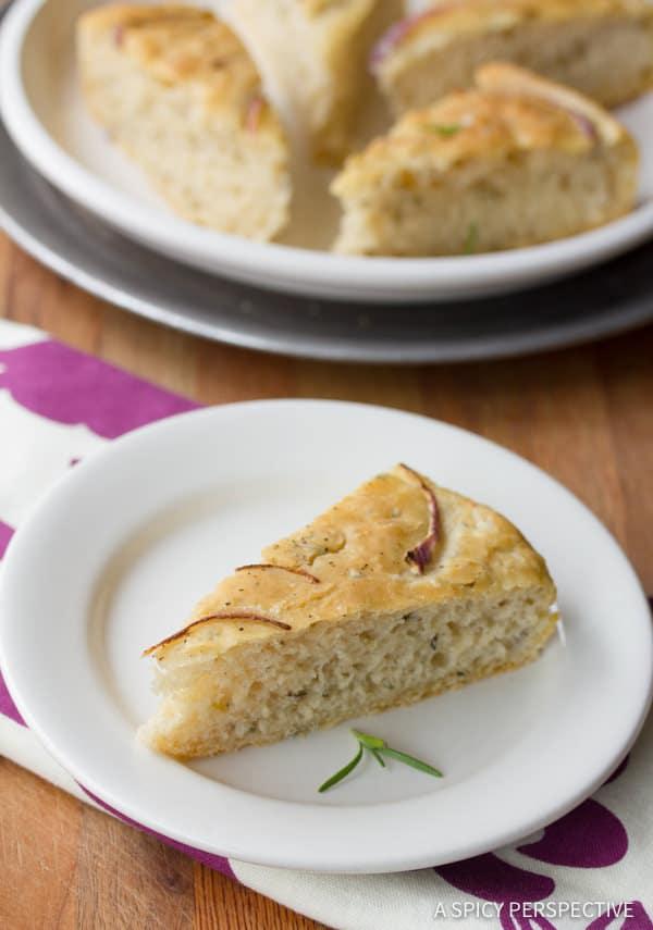 Love This Rustic Focaccia Bread Recipe | ASpicyPerspective.com