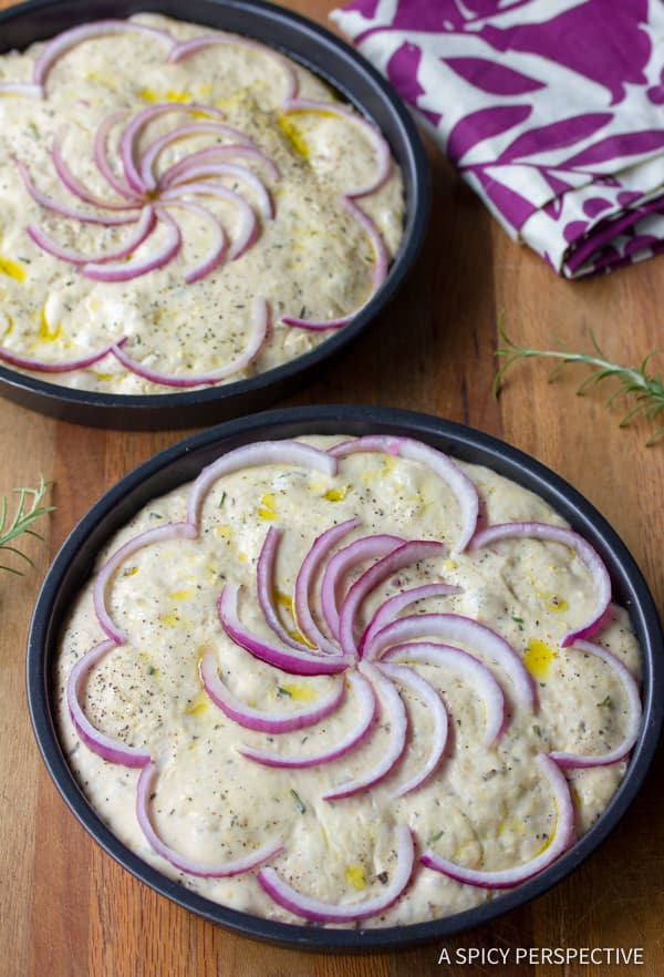 How To: Rustic Focaccia Bread Recipe | ASpicyPerspective.com