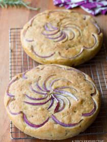 Rustic Focaccia Bread Recipe | ASpicyPerspective.com