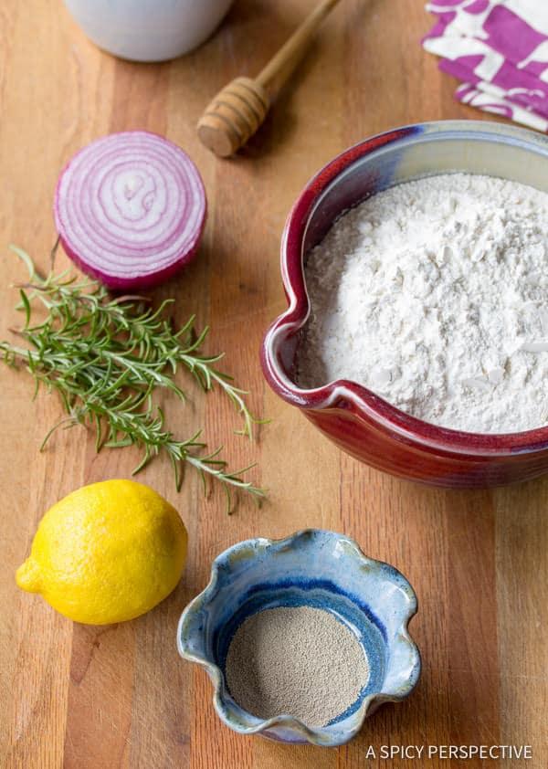 Making a Rustic Focaccia Bread Recipe | ASpicyPerspective.com