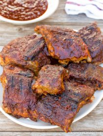 Coffee Brushed BBQ Ribs