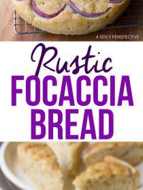 Fresh Rustic Focaccia Bread Recipe | ASpicyPerspective.com