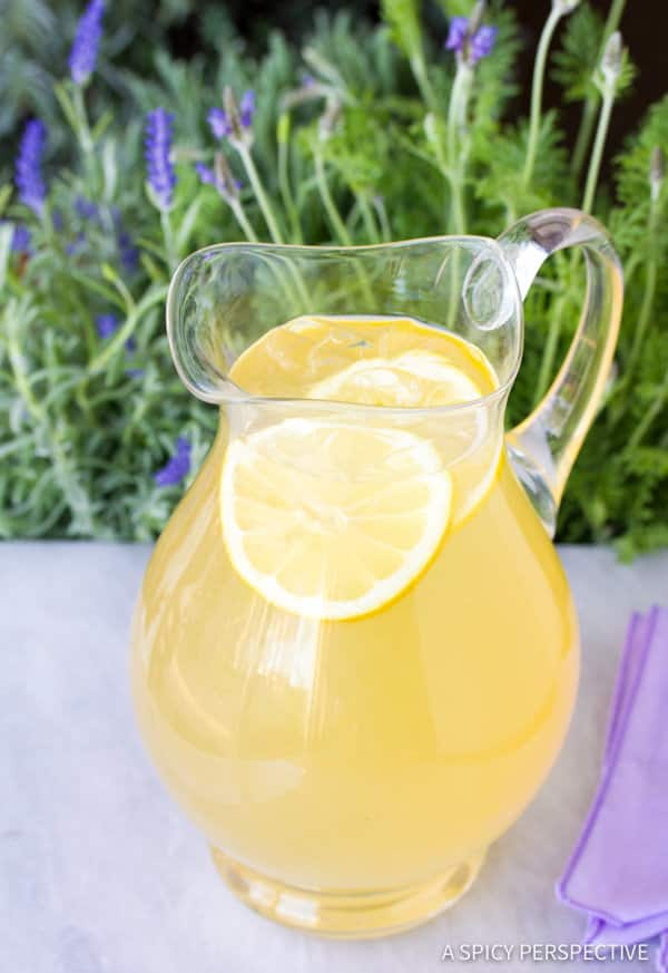 Simple French Lavender Lemonade