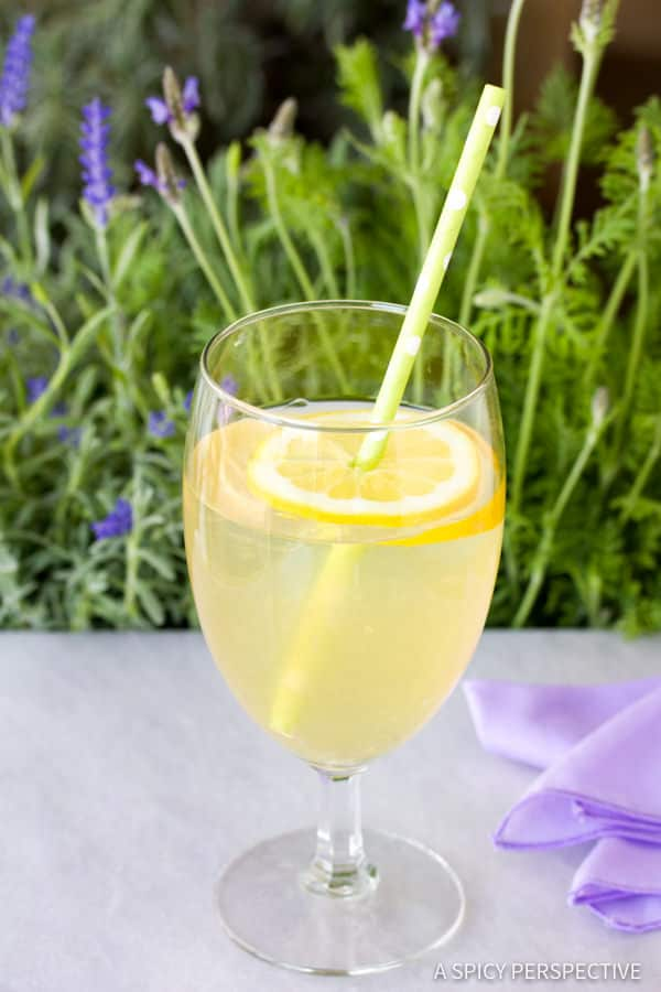 French Lavender Lemonade Recipe | ASpicyPerspective.com