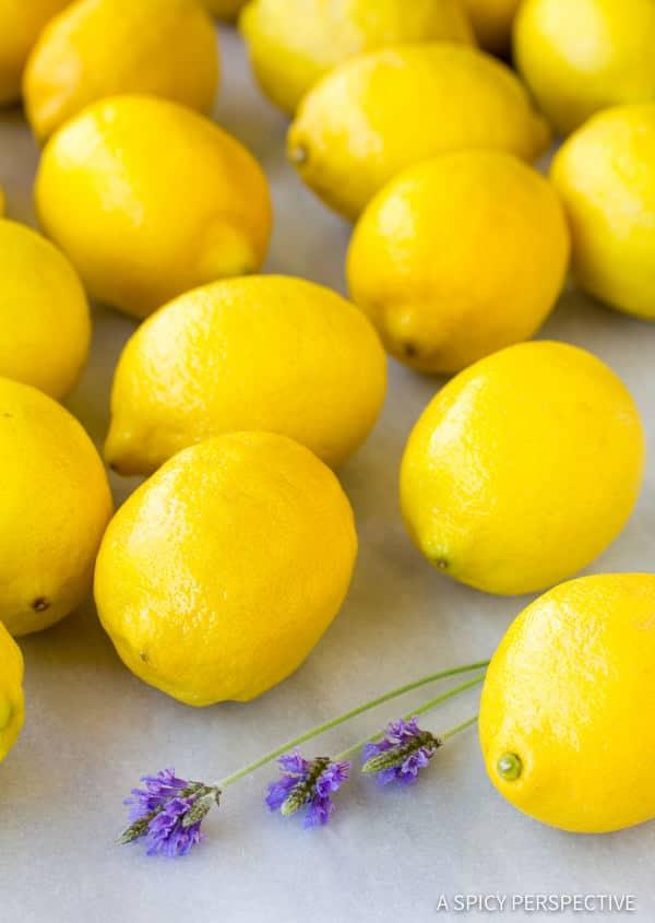 Simple French Lavender Lemonade Recipe | ASpicyPerspective.com
