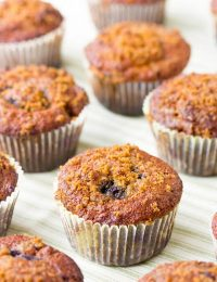 Ginger Wheat Blackberry Muffins | ASpicyPerspective.com