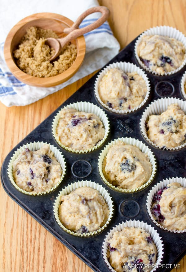 Must-Make Ginger Wheat Blackberry Muffins   ASpicyPerspective.com