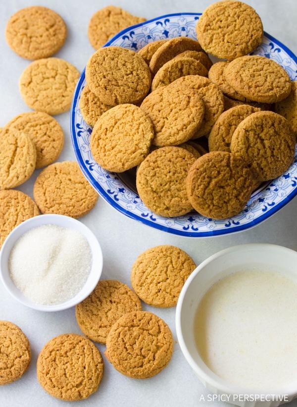 Making Gingersnap Ice Cream Cups Recipe