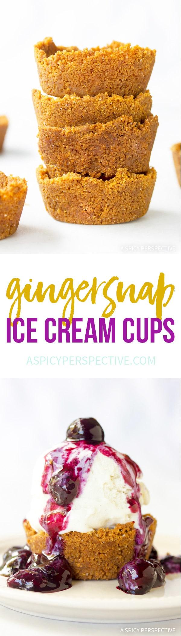 Simple Gingersnap Ice Cream Cups Recipe