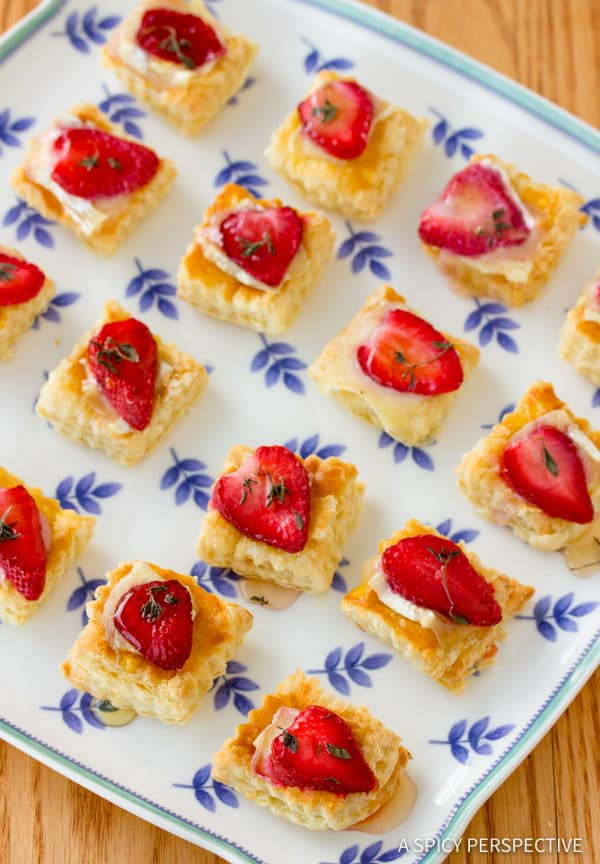 Perfect Strawberry Brie Tartlets Recipe | ASpicyPerspective.com