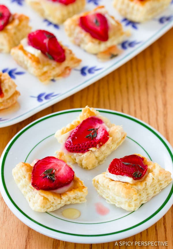 Best Strawberry Brie Tartlets Recipe | ASpicyPerspective.com