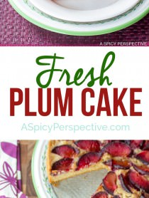 Fresh Plum Cake on ASpicyPerspective.com