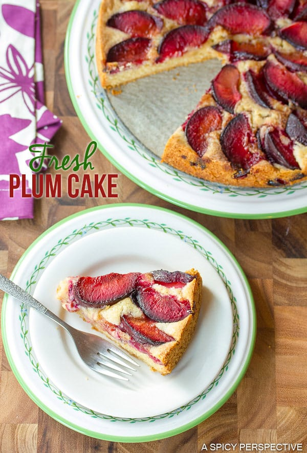 Amazing Fresh Plum Cake on ASpicyPerspective.com