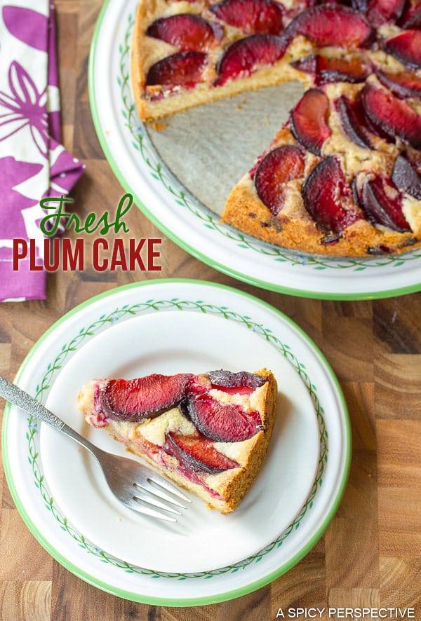 Amazing Fresh Plum Cake on ASpicyPerspective.com