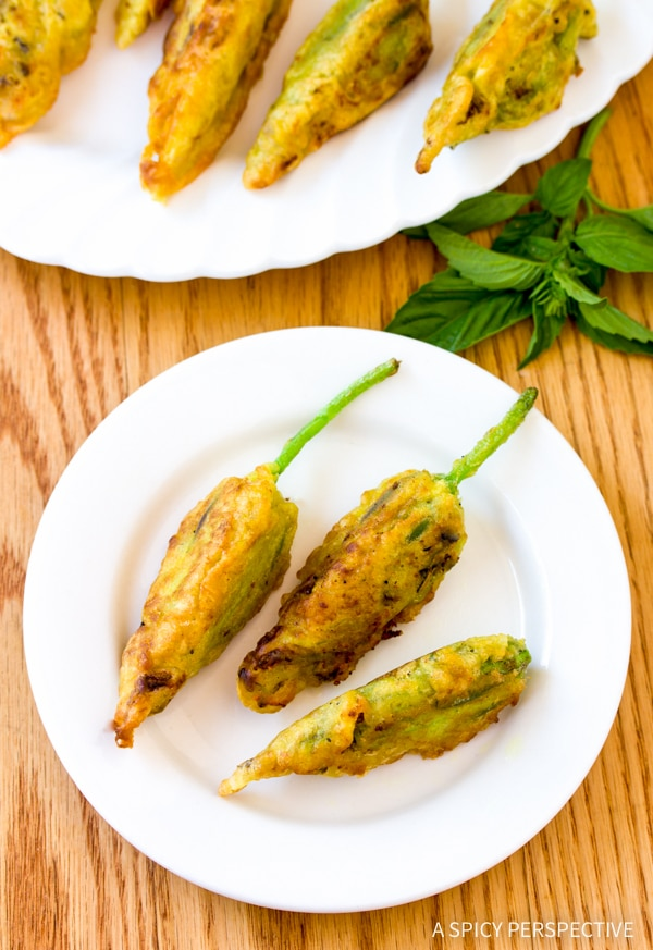 Simple Market Stuffed Squash Blossoms Recipe