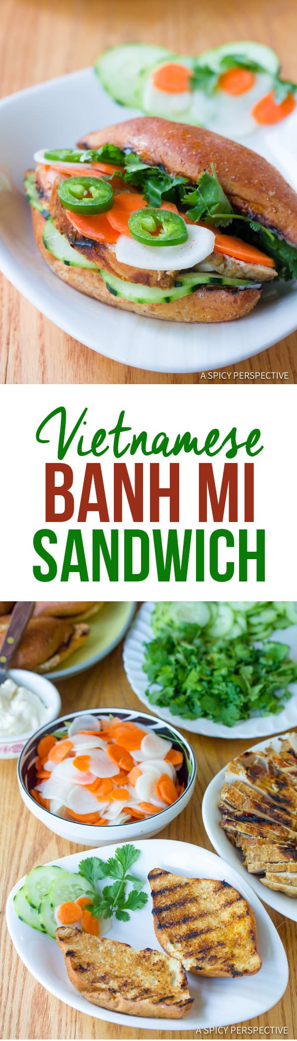 Perfect Vietnamese Banh Mi Sandwich | ASpicyPerspective.com
