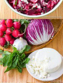 Vibrant Roasted Beet and Radicchio Salad | ASpicyPerspective.com