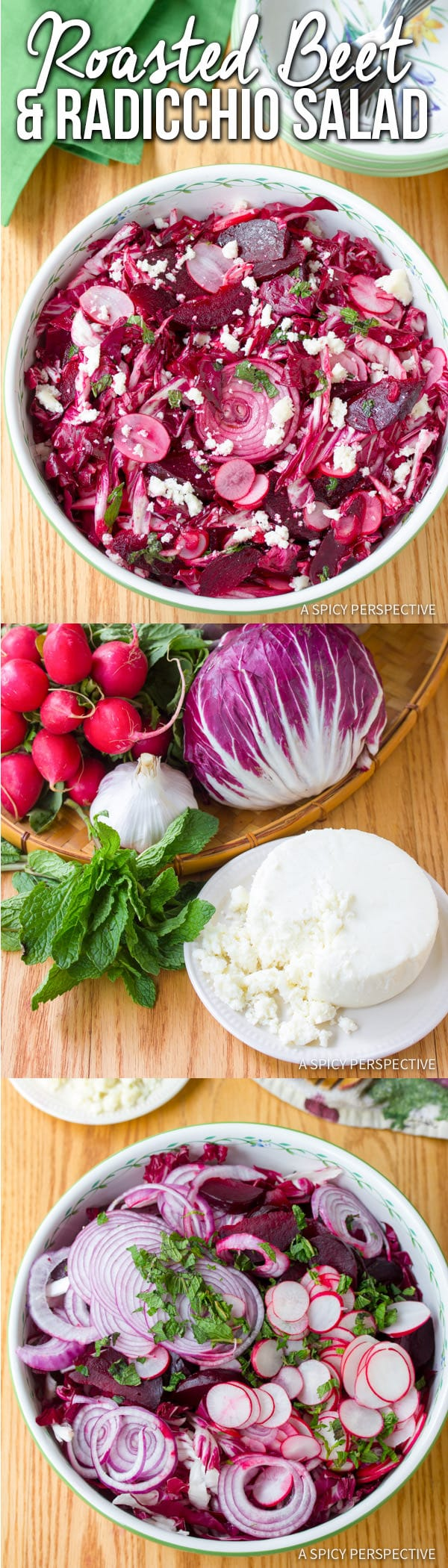 Vibrant Roasted Beet and Radicchio Salad | ASpicyPerspective.com