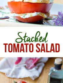 Fresh 5-Ingredient Stacked Tomato Salad | ASpicyPerspective.com