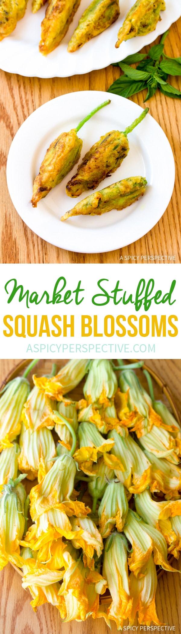 Fresh Market Stuffed Squash Blossoms Recipe
