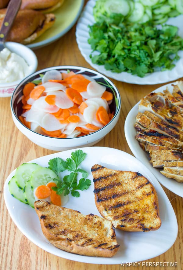 Building a Vietnamese Banh Mi Sandwich | ASpicyPerspective.com