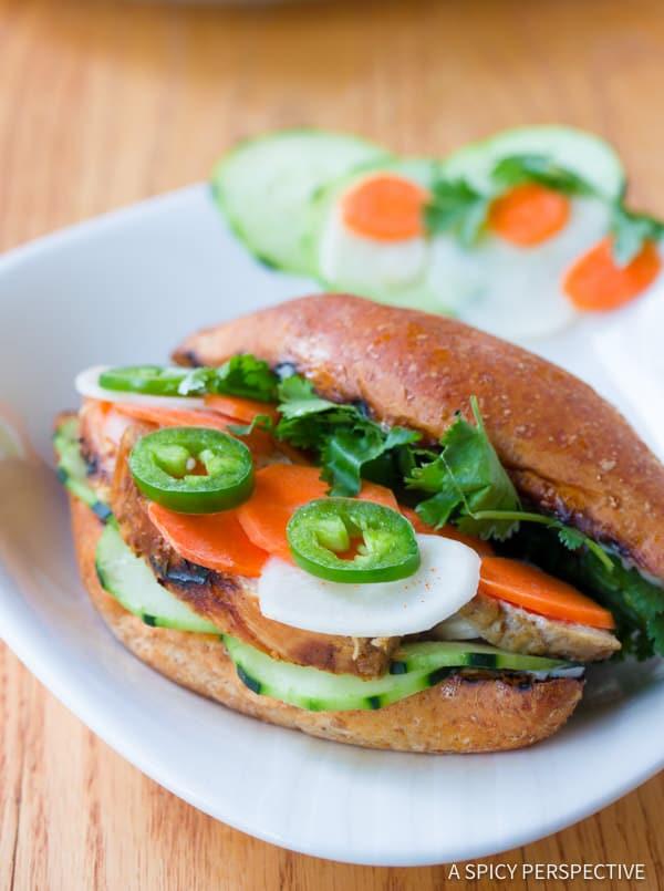 Vietnamese Banh Mi Sandwich | ASpicyPerspective.com