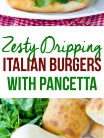 Drool-Worthy Zesty Italian Burgers | ASpicyPerspective.com