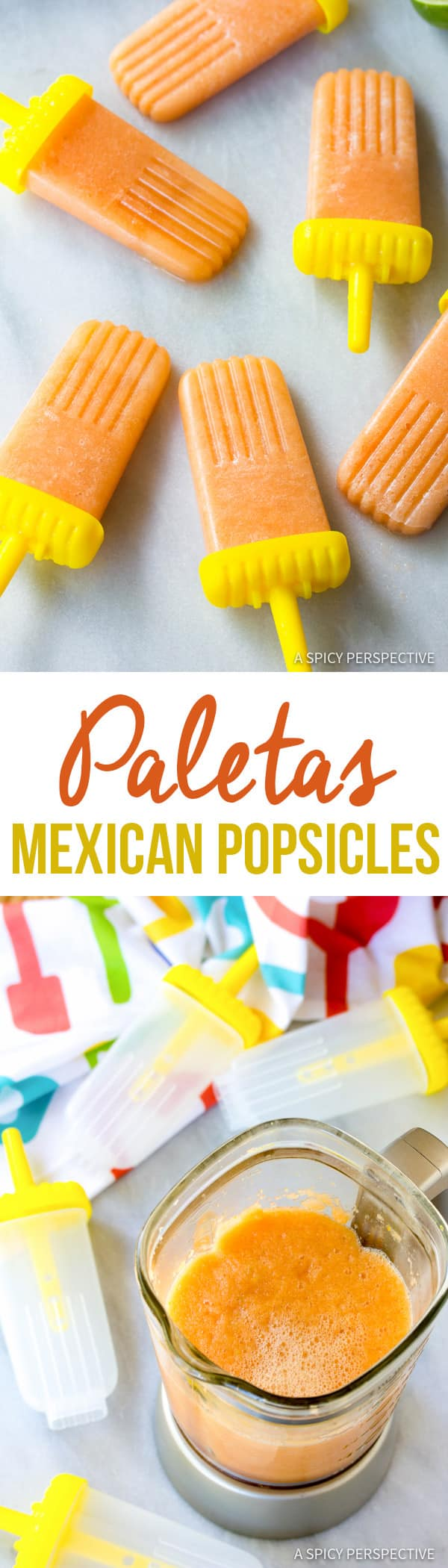 Fresh Spicy-Sweet Paletas (Mexican Popsicles) | ASpicyPerspective.com
