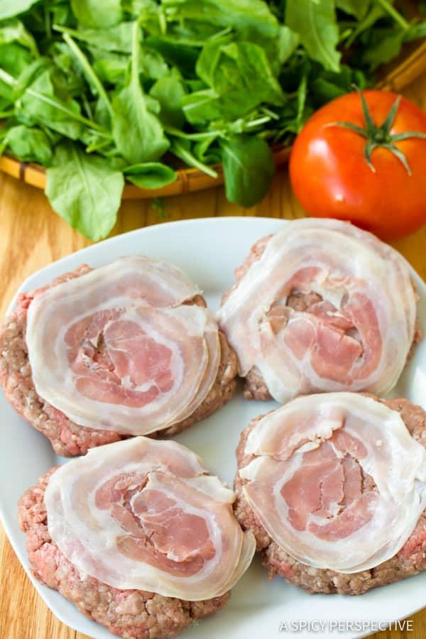 How to Make Zesty Italian Burgers | ASpicyPerspective.com