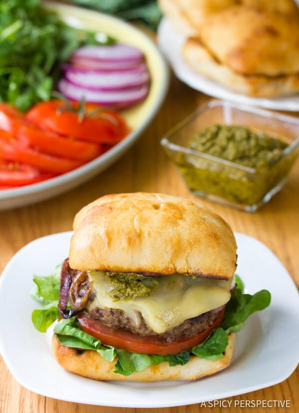 Awesome Zesty Italian Burgers | ASpicyPerspective.com