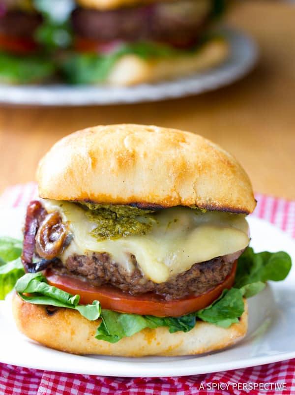 Zesty Italian Burgers | ASpicyPerspective.com