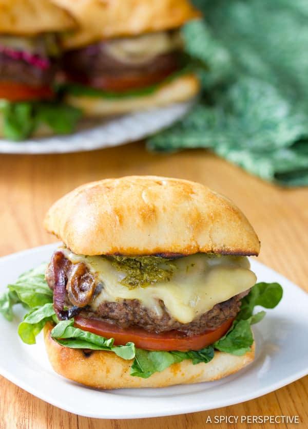 Must-Make Zesty Italian Burgers | ASpicyPerspective.com