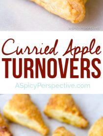 Crispy Sweet Curried Apple Turnovers | ASpicyPerspective.com