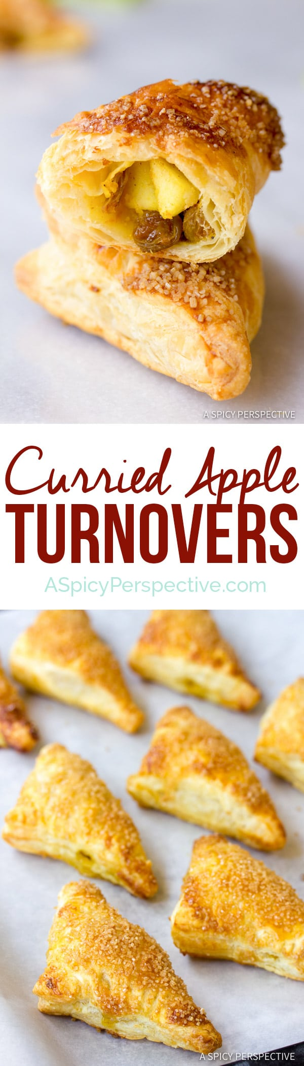Crispy Sweet Curried Apple Turnovers | ASpicyPerspective.com