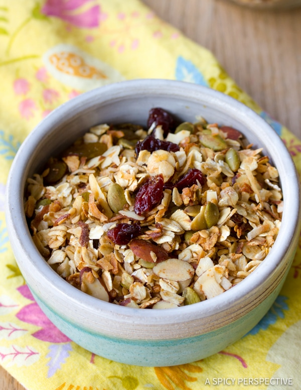 Best Classic Homemade Granola Recipe | ASpicyPerspective.com