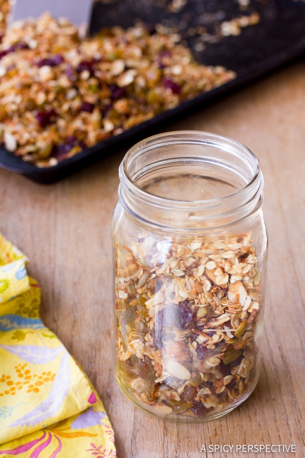 Must-Make Best Classic Homemade Granola Recipe | ASpicyPerspective.com