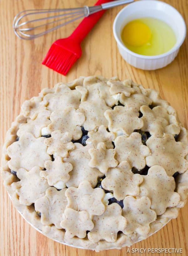 Dazzling Fresh Blueberry Pie with Almond Pie Crust | ASpicyPerspective.com