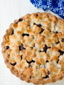 Best Fresh Blueberry Pie with Almond Pie Crust | ASpicyPerspective.com