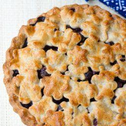 Best Fresh Blueberry Pie with Almond Pie Crust | ASpicyPerspective.com