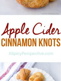 Pillowy Apple Cider Cinnamon Knots | ASpicyPerspective.com