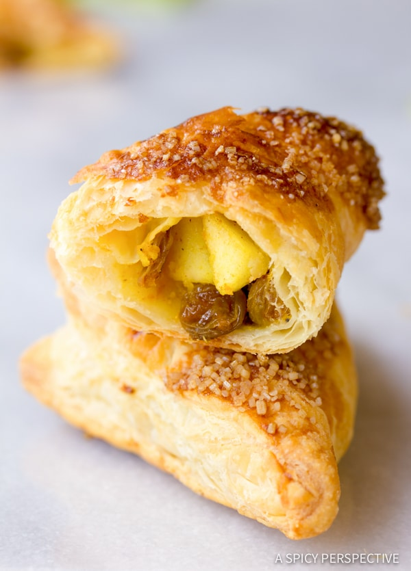 Unique Curried Apple Turnovers | ASpicyPerspective.com
