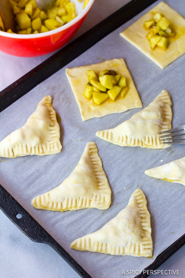 Making Easy Curried Apple Turnovers | ASpicyPerspective.com