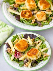 Fried Goat Cheese Salad | ASpicyPerspective.com