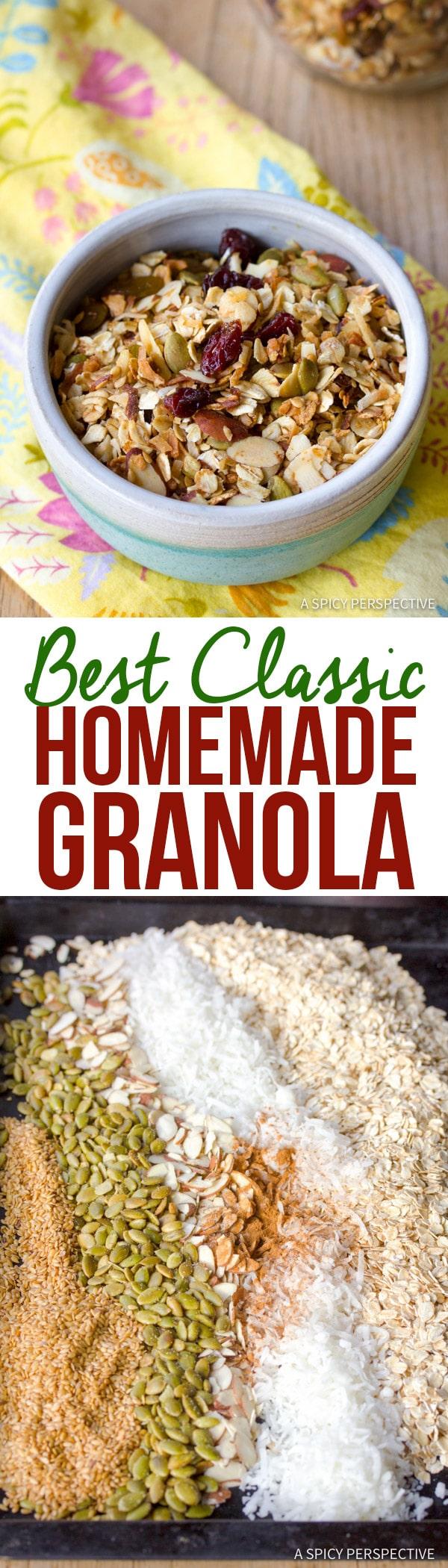 Best Classic Homemade Granola Recipe | ASpicyPerspective.com