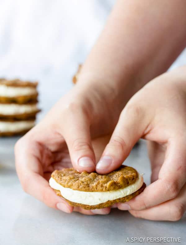 Soft Homemade Oatmeal Cream Pies Recipe | ASpicyPerspective.com