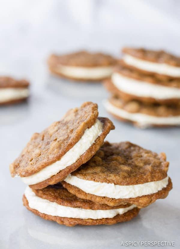 The Best Homemade Oatmeal Cream Pies Recipe | ASpicyPerspective.com