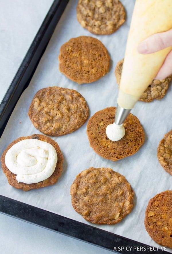 How to Make Homemade Oatmeal Cream Pies Recipe | ASpicyPerspective.com