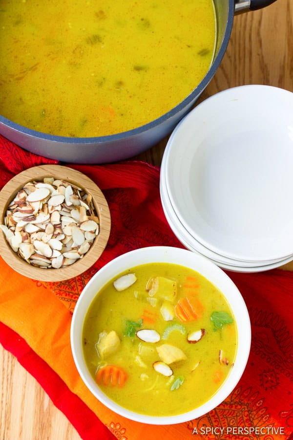 Easy Healthy Mulligatawny Soup | ASpicyPerspective.com #LowCarb #GlutenFree