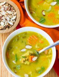 Healthy Mulligatawny Soup | ASpicyPerspective.com #LowCarb #GlutenFree